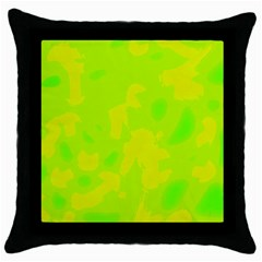 Simple yellow and green Throw Pillow Case (Black)