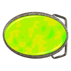 Simple yellow and green Belt Buckles