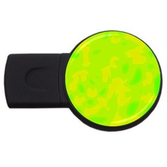 Simple yellow and green USB Flash Drive Round (1 GB)