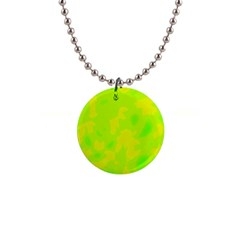 Simple yellow and green Button Necklaces