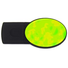 Simple yellow and green USB Flash Drive Oval (4 GB)