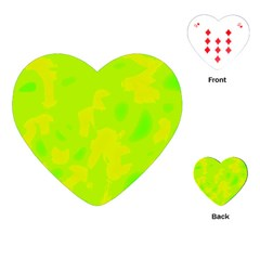 Simple yellow and green Playing Cards (Heart)