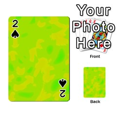 Simple Yellow And Green Playing Cards 54 Designs
