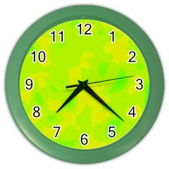 Simple yellow and green Color Wall Clocks