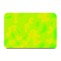 Simple yellow and green Plate Mats