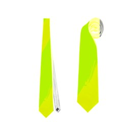 Simple yellow and green Neckties (Two Side)
