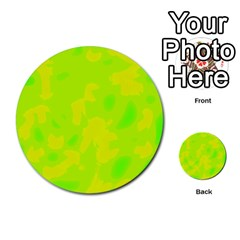 Simple yellow and green Multi-purpose Cards (Round)