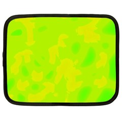 Simple yellow and green Netbook Case (XL)