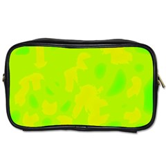 Simple yellow and green Toiletries Bags