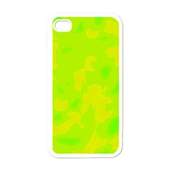 Simple yellow and green Apple iPhone 4 Case (White)