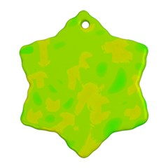 Simple yellow and green Snowflake Ornament (2-Side)