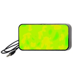Simple yellow and green Portable Speaker (Black)