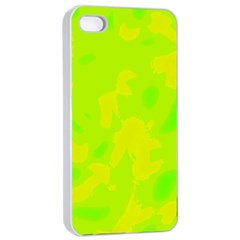 Simple yellow and green Apple iPhone 4/4s Seamless Case (White)