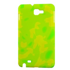 Simple yellow and green Samsung Galaxy Note 1 Hardshell Case
