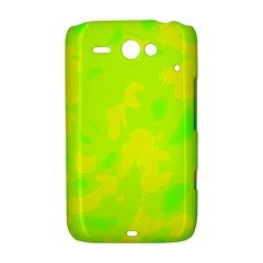Simple yellow and green HTC ChaCha / HTC Status Hardshell Case
