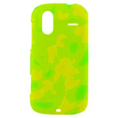 Simple yellow and green HTC Amaze 4G Hardshell Case