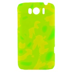 Simple yellow and green HTC Sensation XL Hardshell Case