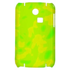 Simple yellow and green Samsung S3350 Hardshell Case