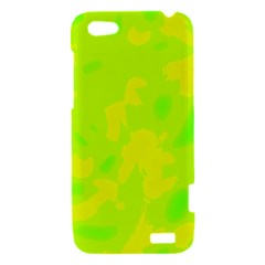 Simple yellow and green HTC One V Hardshell Case