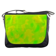Simple yellow and green Messenger Bags