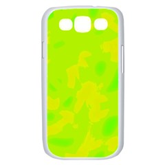 Simple yellow and green Samsung Galaxy S III Case (White)