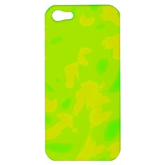 Simple yellow and green Apple iPhone 5 Hardshell Case