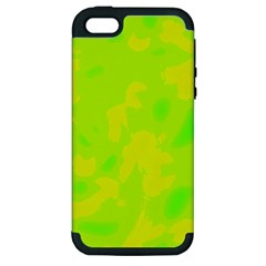 Simple yellow and green Apple iPhone 5 Hardshell Case (PC+Silicone)