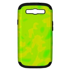 Simple yellow and green Samsung Galaxy S III Hardshell Case (PC+Silicone)