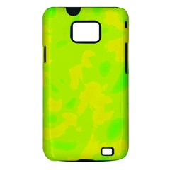 Simple yellow and green Samsung Galaxy S II i9100 Hardshell Case (PC+Silicone)
