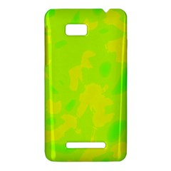 Simple yellow and green HTC One SU T528W Hardshell Case