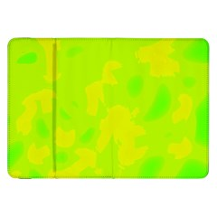 Simple yellow and green Samsung Galaxy Tab 8.9  P7300 Flip Case