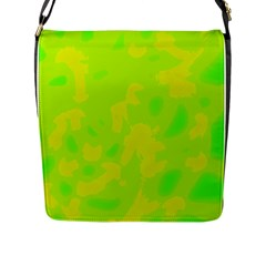 Simple yellow and green Flap Messenger Bag (L)