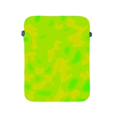 Simple yellow and green Apple iPad 2/3/4 Protective Soft Cases