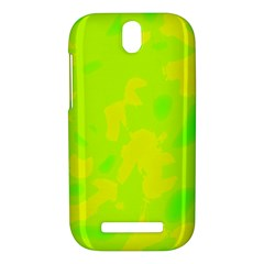 Simple yellow and green HTC One SV Hardshell Case