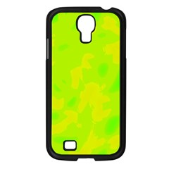 Simple yellow and green Samsung Galaxy S4 I9500/ I9505 Case (Black)