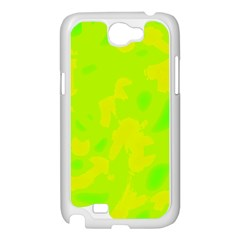 Simple yellow and green Samsung Galaxy Note 2 Case (White)