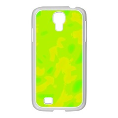 Simple yellow and green Samsung GALAXY S4 I9500/ I9505 Case (White)