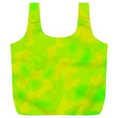 Simple yellow and green Full Print Recycle Bags (L)