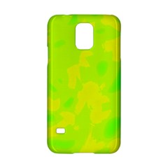 Simple yellow and green Samsung Galaxy S5 Hardshell Case