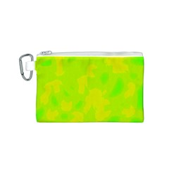 Simple yellow and green Canvas Cosmetic Bag (S)