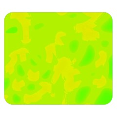 Simple yellow and green Double Sided Flano Blanket (Small)