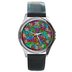 Lizards Round Metal Watch