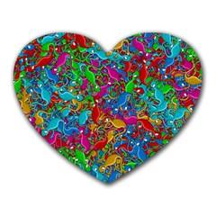 Lizards Heart Mousepads