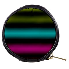 Dark Green Mint Blue Lilac Soft Gradient Mini Makeup Bags