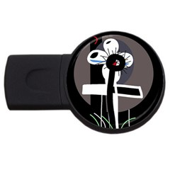 Dark USB Flash Drive Round (1 GB)