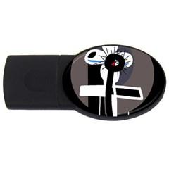 Dark USB Flash Drive Oval (1 GB)