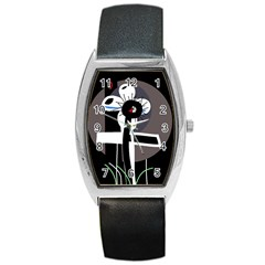 Dark Barrel Style Metal Watch