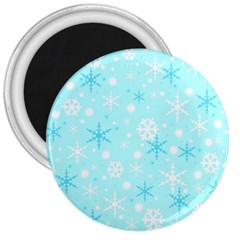 Blue Xmas Pattern 3  Magnets