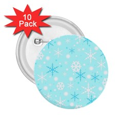 Blue Xmas pattern 2.25  Buttons (10 pack)
