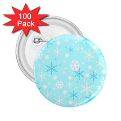 Blue Xmas pattern 2.25  Buttons (100 pack)